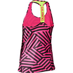 Salming T-Back Tanktop Damer, pink/yellow